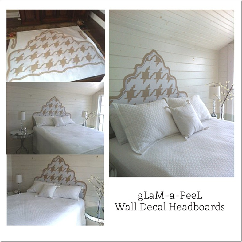 gLaM-a-PeeL wall decal headboard before & after setup2 1000X JPG copy