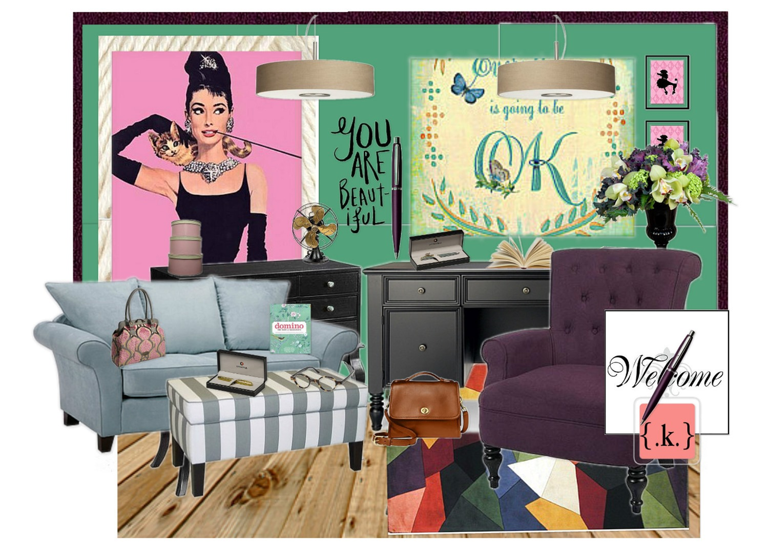 design board: lady's home office -konstadina nastou- {.k.} blog, Κωνσταντίνα Νάστου