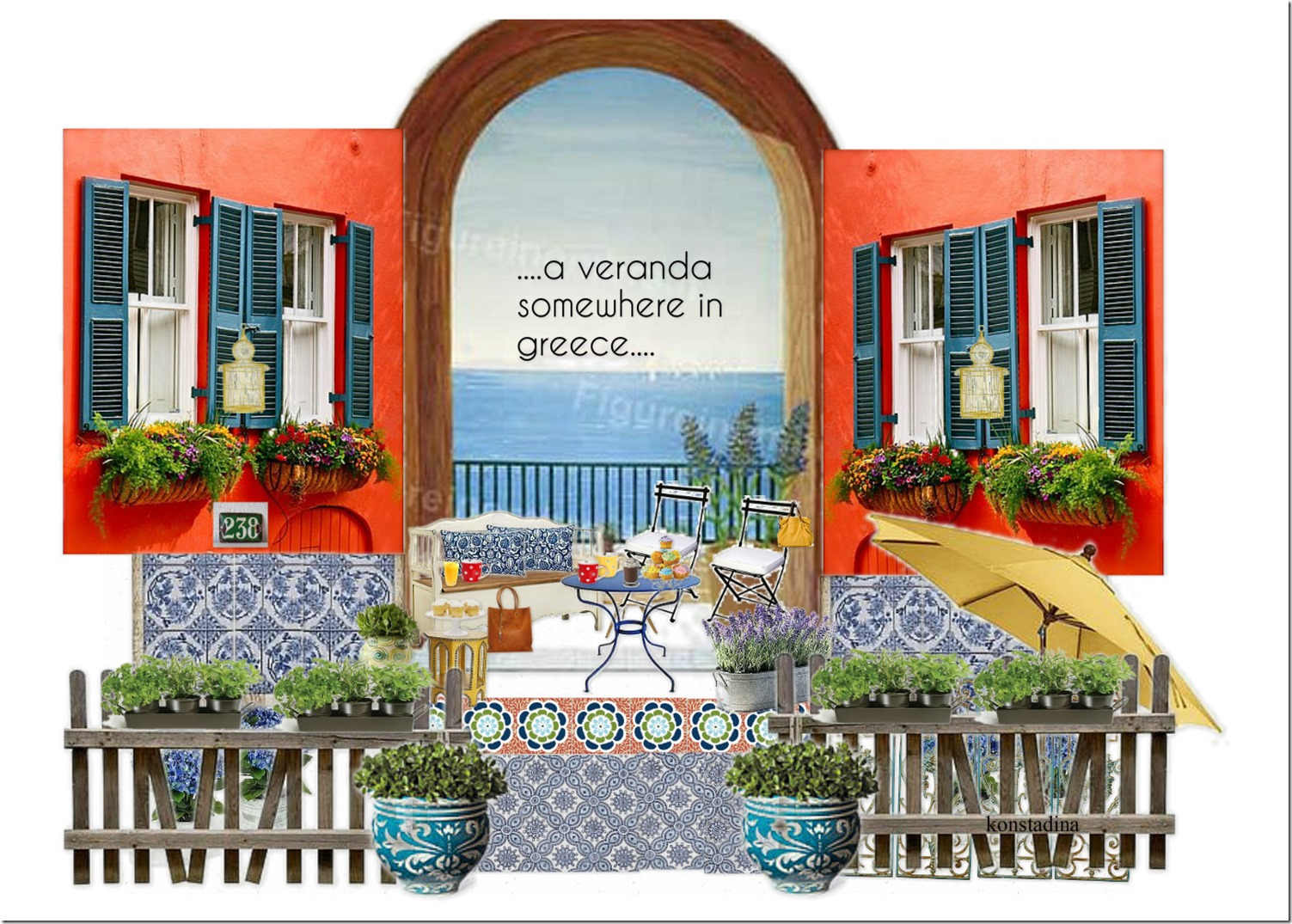 design board: veranda, outdoors Greece -konstadina nastou- {.k.} blog, Κωνσταντίνα Νάστου