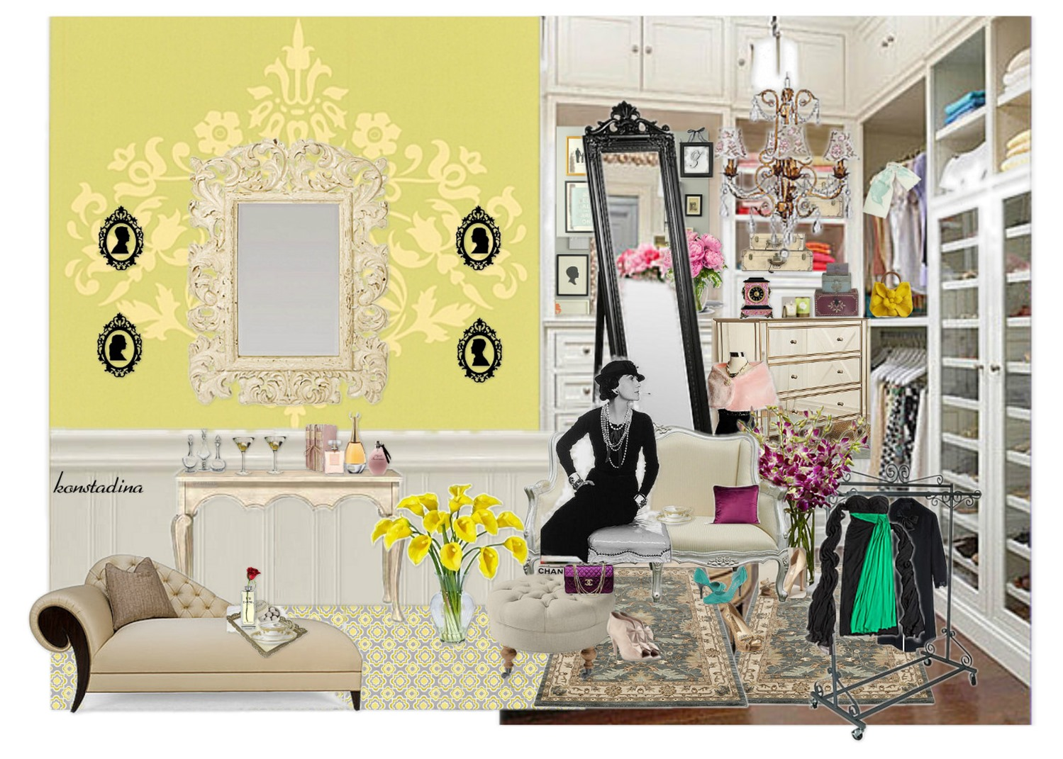 design board: woman cave -konstadina nastou- {.k.} blog, Κωνσταντίνα Νάστου