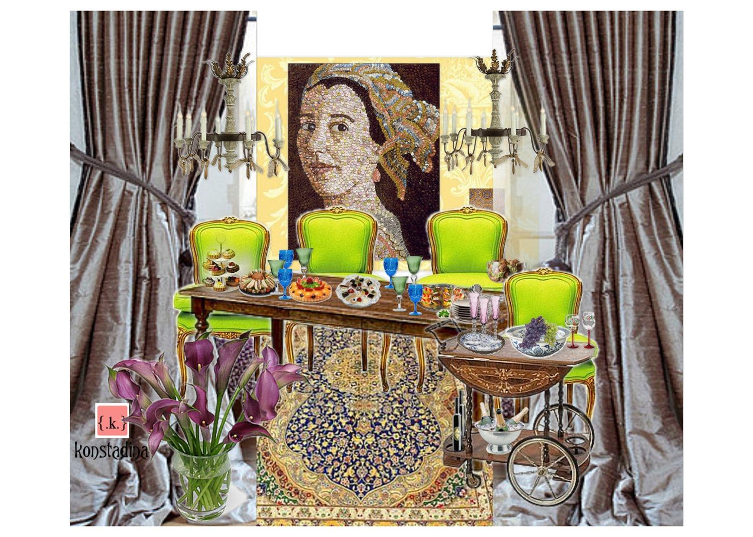 design board: Classic style dining room -konstadina nastou- {.k.} blog, Κωνσταντίνα Νάστου