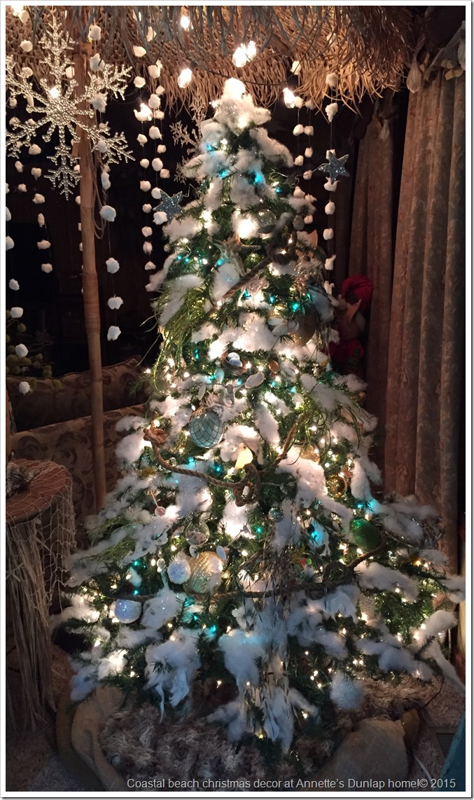 Coastal beach christmas decor at Annette's Dunlap home!