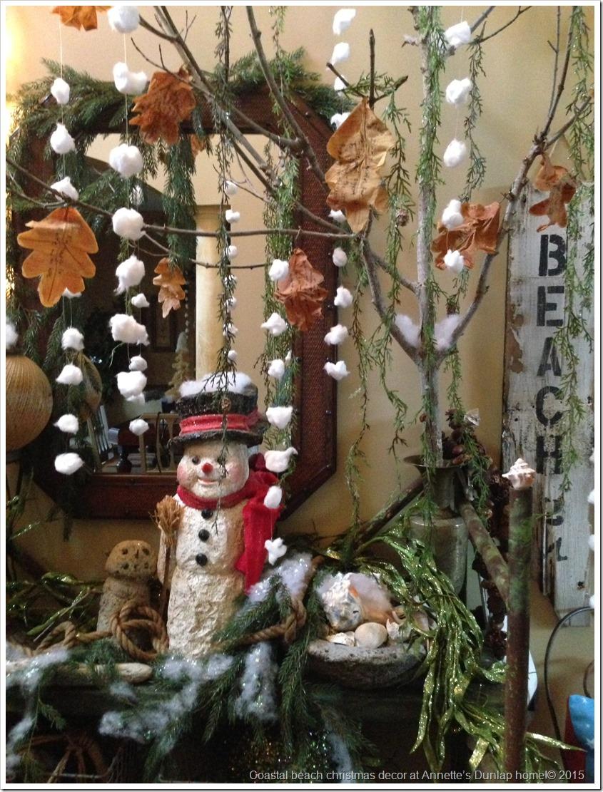 Coastal beach christmas decor at Annette's Dunlap home!