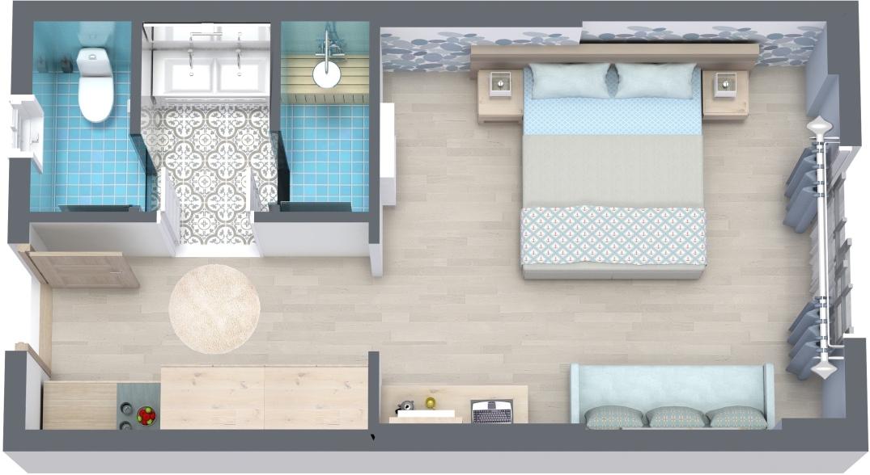 Interior design: hotel suite