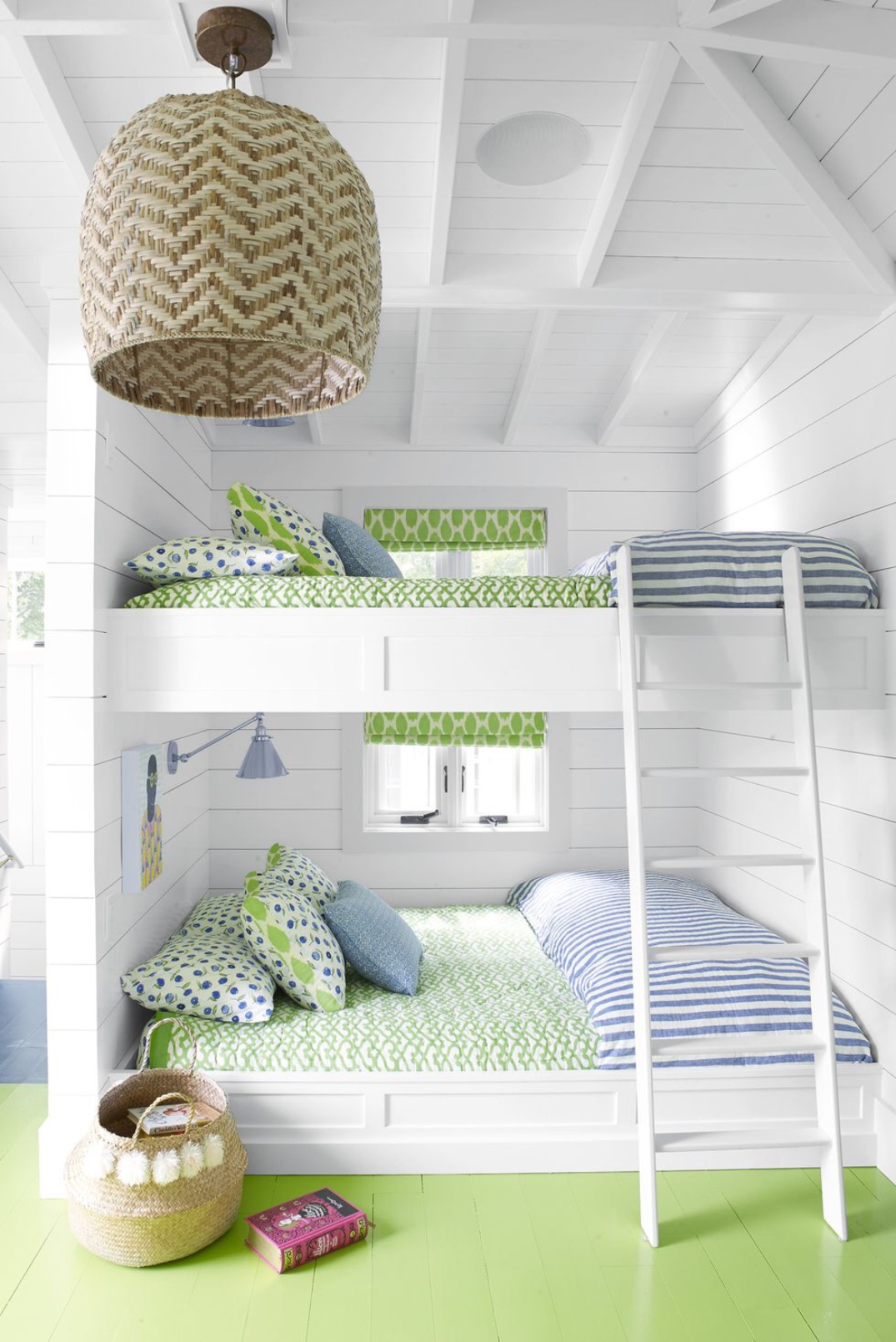 Bedroom_kids_room_lime_white_Article_from_House_Beautiful_summer_home_in_Ludington_Michigan_decor_decoration_blue_white_beach_decor_interiors_and_more_vacations.jpg