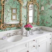 Floral ταπετσαρία για το μπάνιο!